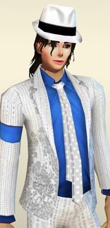 Michael Jackson White Blue Suits Halloween Costumes Hats